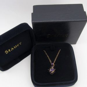 New In Box Stauer Enamel Egg Necklace
